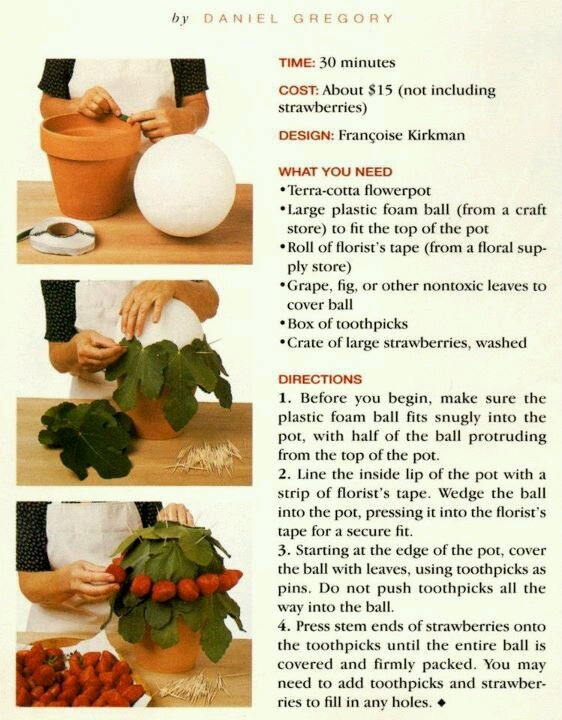 How to make fresh strawberry bouquet.