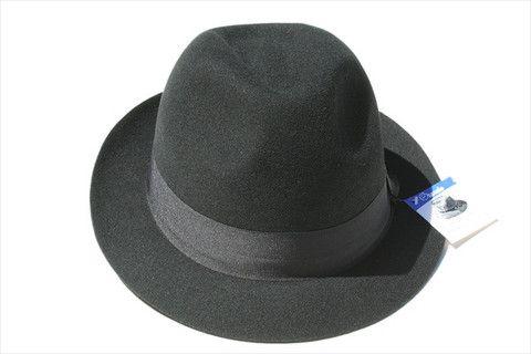 wool trilby - black