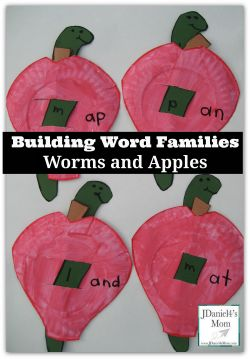 Building Word Families - Worms and Apples