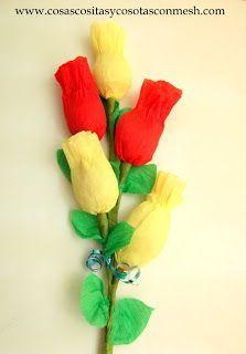 Como hacer flores con chocolate ~ cositasconmesh