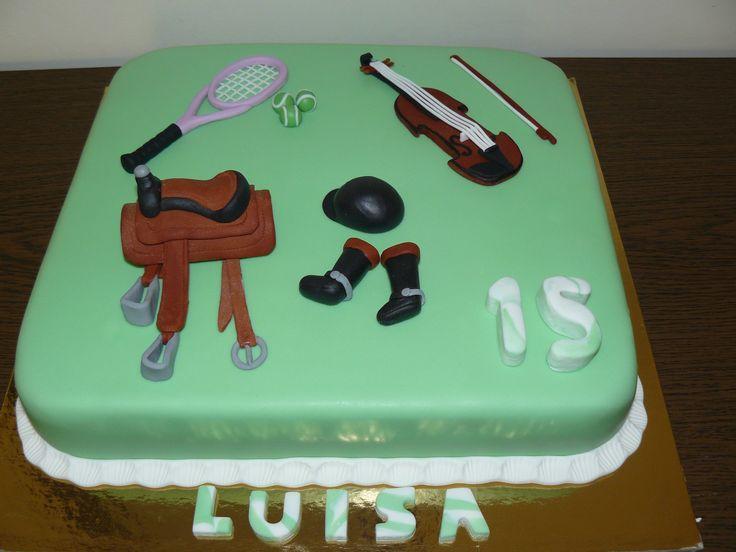 Equitação, ténis e violino