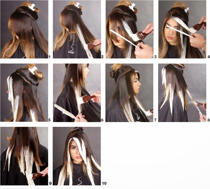 Image result for ombre step by step