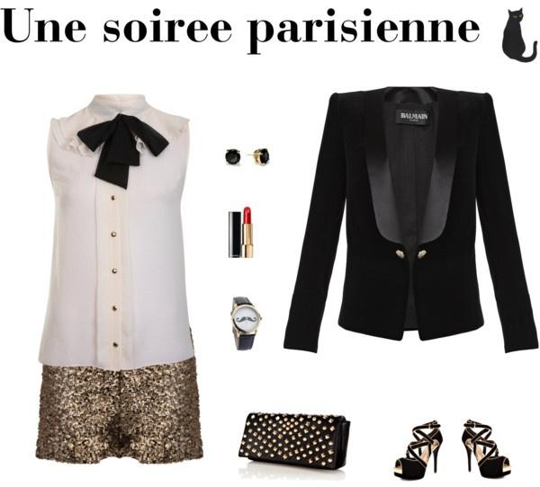 """""""Une soirée parisienne"""" by littlemisslene on Polyvore"""