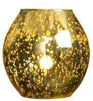 Bordslampa Hanoi 18x18 cm Guld Glas - Bordslampor - Rusta