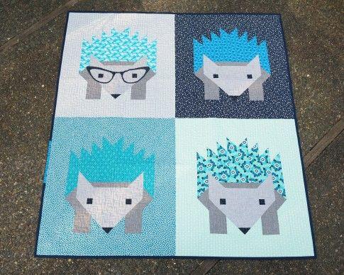 Hazel Hedgehog Ii Quilt Designed By Elizabeth Hartman