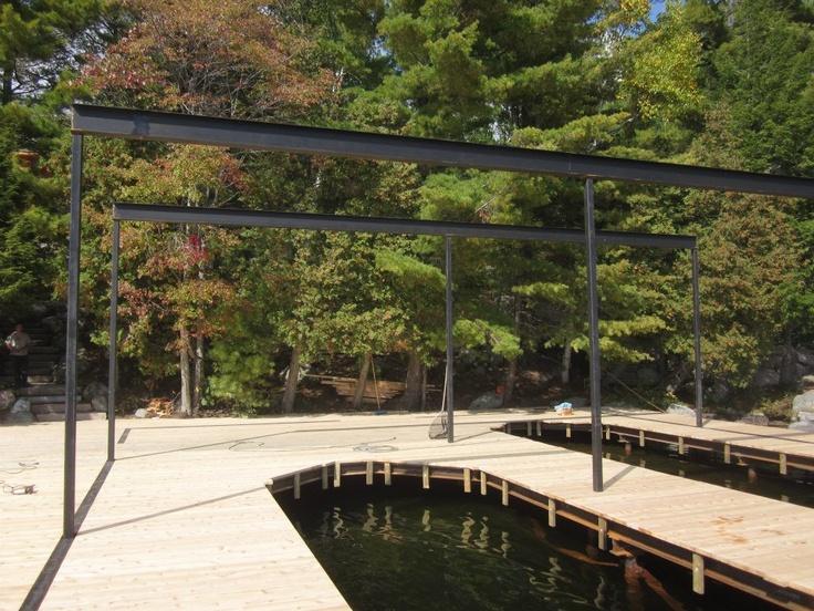 Lake Rosseau boathouse in progress by Integrity