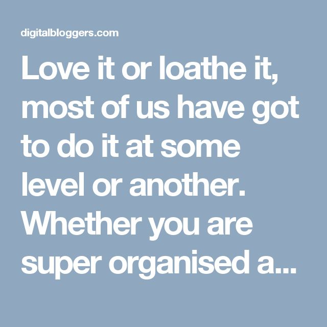 Love it or loathe it, most of us have got to do it at some level or another. Whether you are super organised and started in the January sales or, like me, rush out at 4 o'clock on Christmas Eve, it's still got to be done.