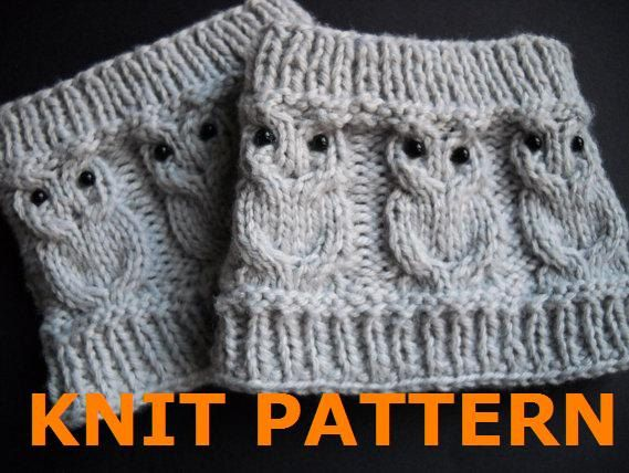 Hey, I found this really awesome Etsy listing at http://www.etsy.com/listing/116159009/knit-pattern-owl-cabled-boot-cuff