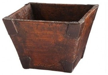 Reclaimed Wooden Bucket asian storage boxes
