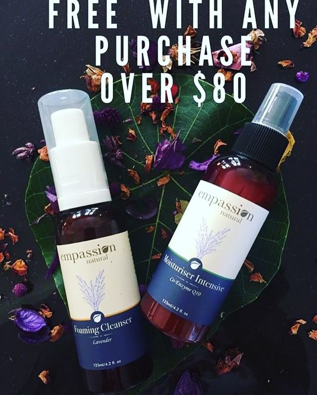 Yes we have an another amazing special for March…  When you spend over $50 (excluding shipping charges) you'll receive a FREE Lavender  Empassion Foaming Facial Cleanser. Wow how exciting!!  When you spend over $80 (excluding shipping charges) you'll receive a FREE Lavender  Empassion Foaming Facial Cleanser AND a FREE Lavender Empassion Moisturiser Intensive.  That's a fantastic special that you can't afford to miss