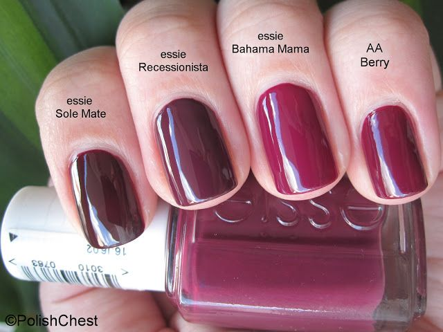 Polish Chest: [Comparison] essie - Recessionista
