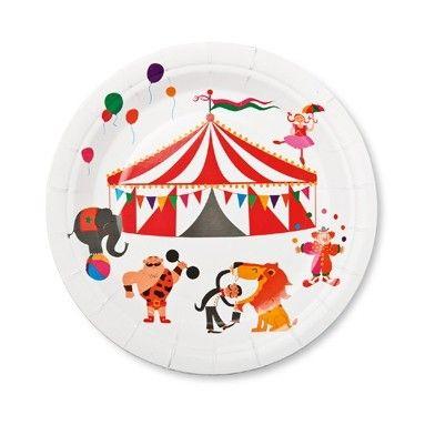 Pappertallrik Cirkus