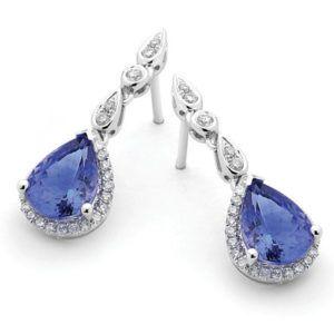 18ct Tanzanite & Diamond Earrings - Shop our jewellery store in Port Fairy - Victoria, Australia.