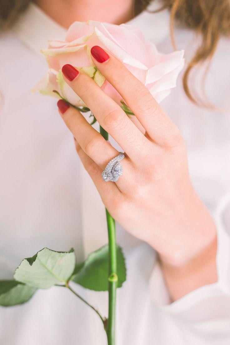 """Bague """"Toi et Moi"""" or Blanc et diamants blancs Waskoll"""