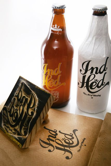 IndHED Premium Craft Beer on Packaging of the World - Creative Package Design Gallery