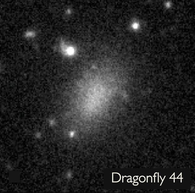 AWAKENING FOR ALL: DRAGONFLY 44: A massive 'ghost' galaxy made of 99....