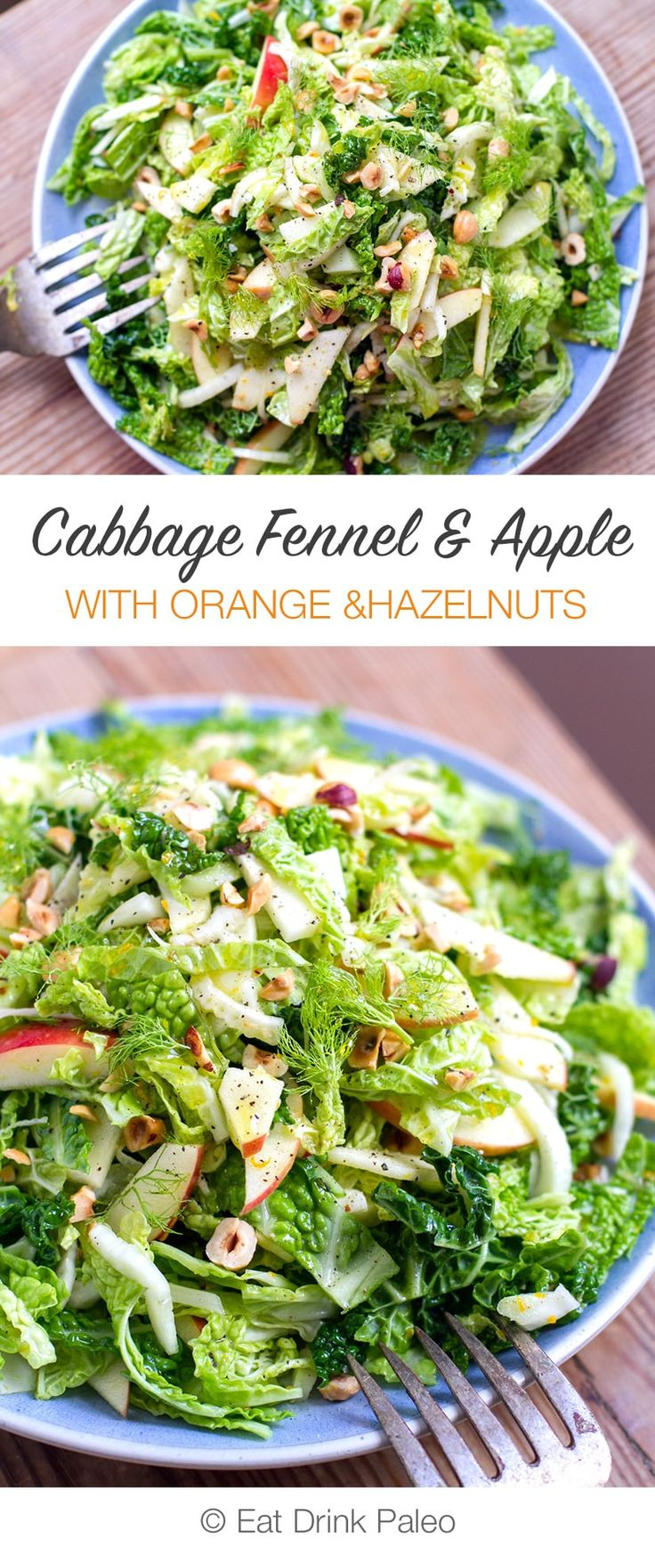 Cabbage Fennel and Apple Slaw With Orange and Hazelnut | http://eatdrinkpaleo.com.au/cabbage-fennel-apple-slaw-orange-hazelnut/