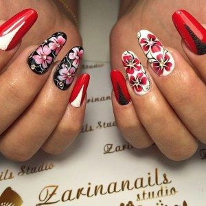 Яркий дизайн ногтей - колоритный маникюр фото