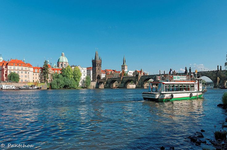 Prague : On the bank of Vltava
