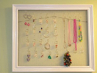 DIY Jewelery organizer.