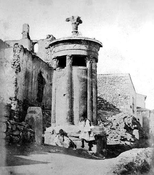 James Robertson, 1853-54, Αθήνα, Μνημείο Λυσικράτη.