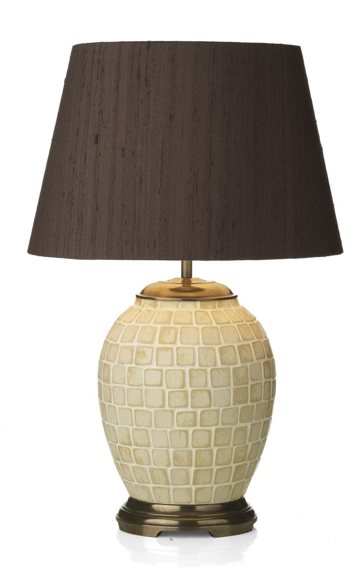 Small table lamps - Zuc4233 Zuccaro Small Table Lamp Base Only Shown With Zuc1429 Nutmeg Silk Shade