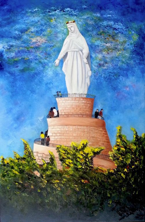 Our Lady Of Lebanon - Nasri Georges Art