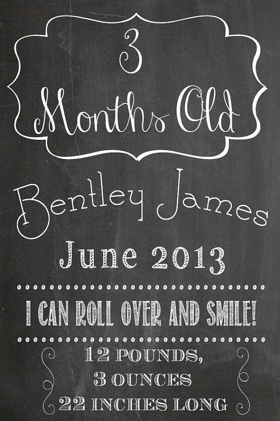 Monthly Baby Milestones Photo Prop Bundle for by SweetBeeCreates