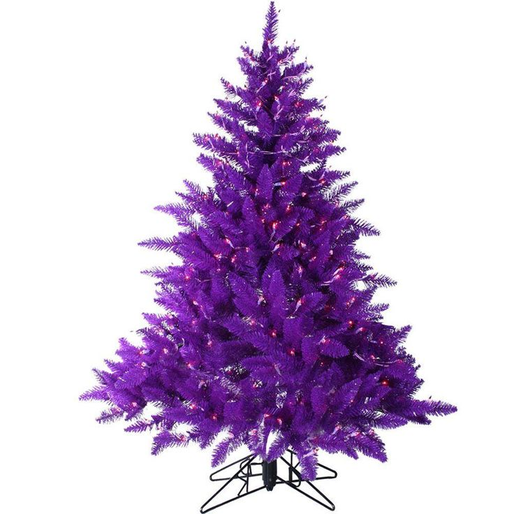 Purple And White Christmas Tree: Sterling, Inc. 4.5 Ft. Pre-Lit Purple Artificial Ashley