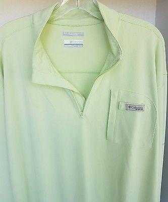 Men's Columbia Sportswear Omni Shield PFG Green Track Fishing Jacket XL