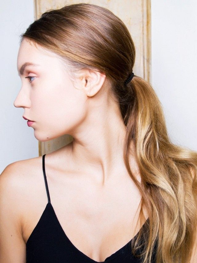 Bad weather hairstyle ideas. Look 3: Low Ponytail.