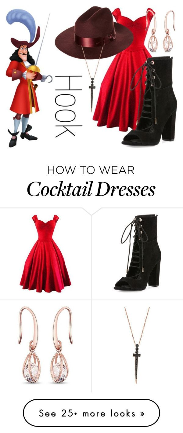 """""""Captain Hook~ DisneyBound"""" by basic-disney on Polyvore featuring Kendall + Kylie, Brixton and Bee Goddess"""