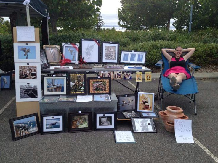 Selling my images at the sunday markets back in 2012 before i completed photography courses