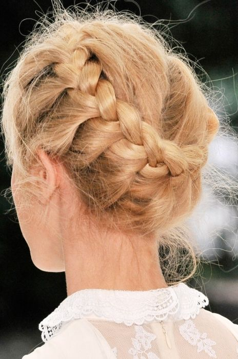Braid: French Braids, Pink Braids, Pink Hair, Braids Updo, Pastel Pink, Hair Style, Crowns Braids, Braids Hair, Colors Hair