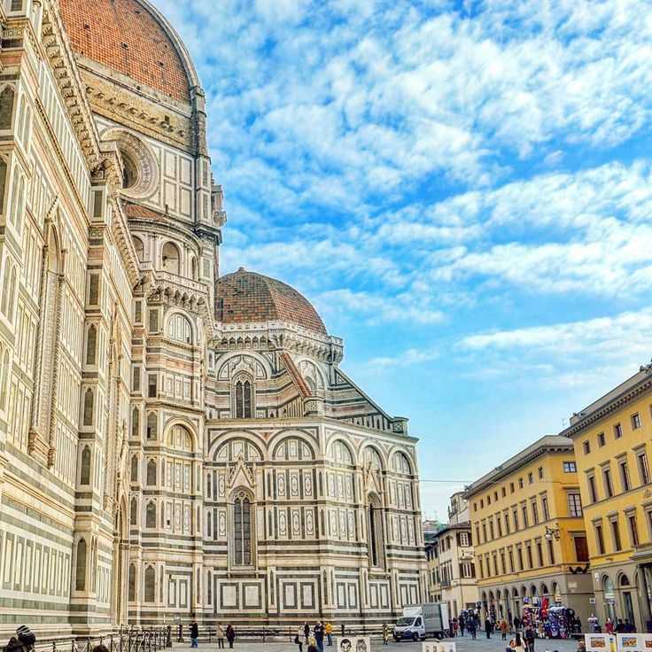 Beautiful blue skies on a cold winters day in Florence  by enchantingwanderlust