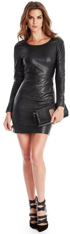 GUESS by Marciano Coy Leather Dress on shopstyle.com