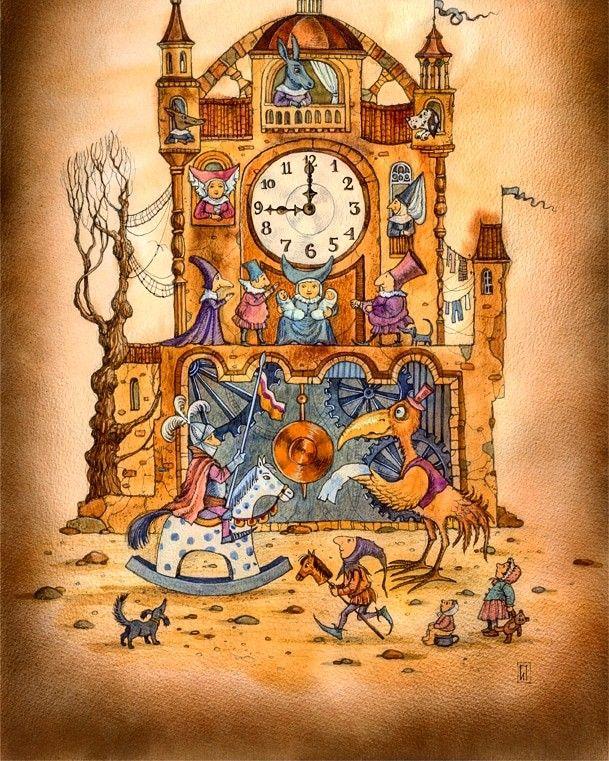 Картинки со сказочными часами