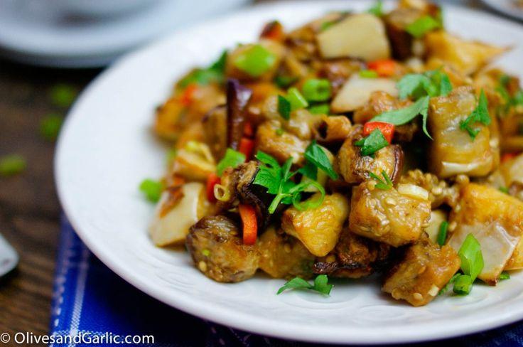 Spicy Eggplant Salad | Healthy Vegetarian Delights | Pinterest