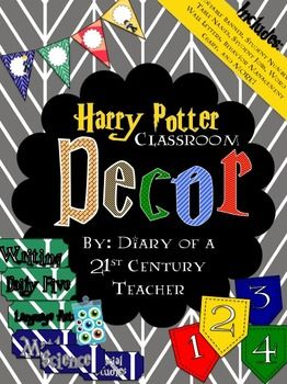 Harry Potter (JK Rowling) Classroom Decor Bundle -- Downloadable Harry Potter Themed Classroom! #classroomdecor #bulletinboards #harrypotter @kb9