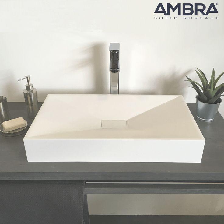 23 best vasques en solid surface ambra images on pinterest basin bathroom and bathroom ideas. Black Bedroom Furniture Sets. Home Design Ideas