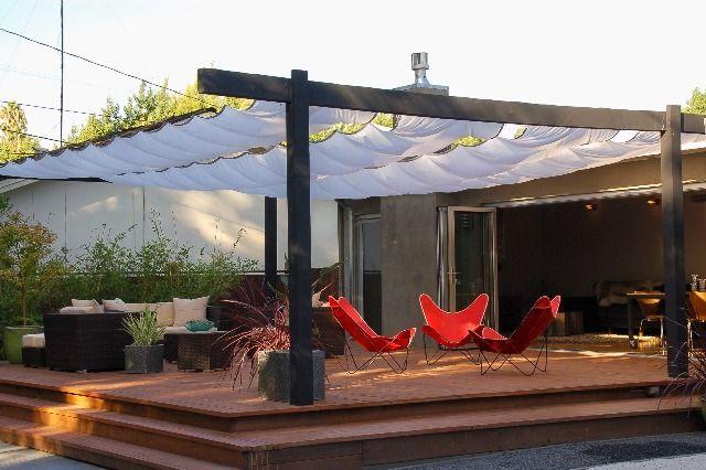 Sun Shade Deck Patio Covers Garden Envy Pinterest