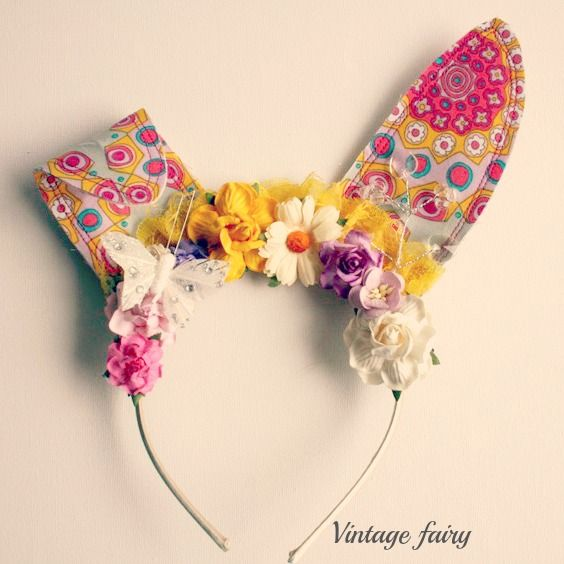 Tabatha bunny ears by Vintage Fairy PRE ORDER