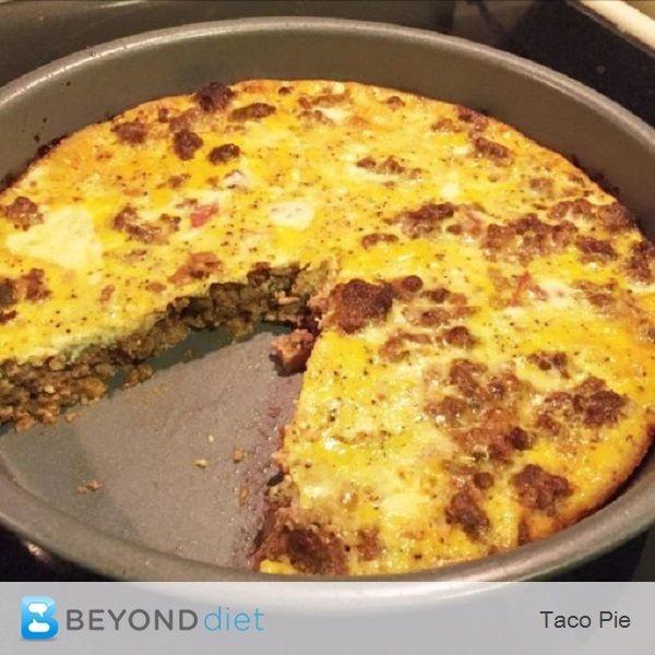 Taco Pie - Skip the tortillas on Taco Tuesday with this recipe for Taco Pie!