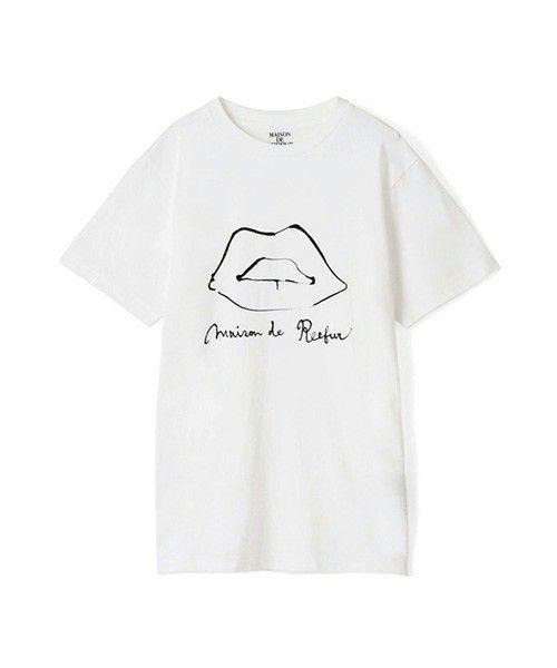 MAISON DE REEFUR(メゾン ド リーファー)のリッププリントTシャツ(Tシャツ/カットソー)|ホワイト
