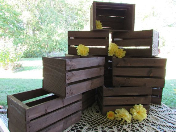 Wooden Crates centerpieces Rustic Wedding reception flower planter box vases barn country diy #diy #wedding #weddingideas #crates #woodencrates #weddingday #weddingreception #party #homedecor #diy #crates #affiliate