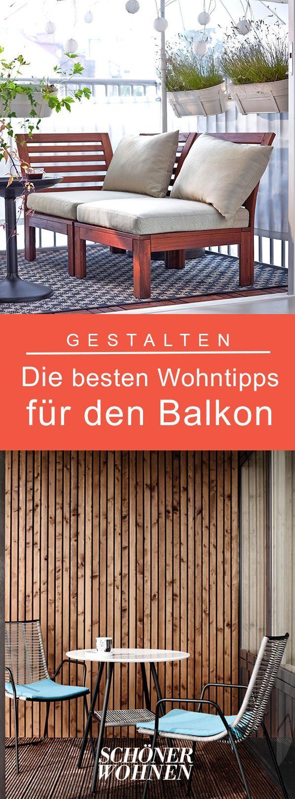 Die besten Wohntipps für den Balkon   Kleinen balkon gestalten ...