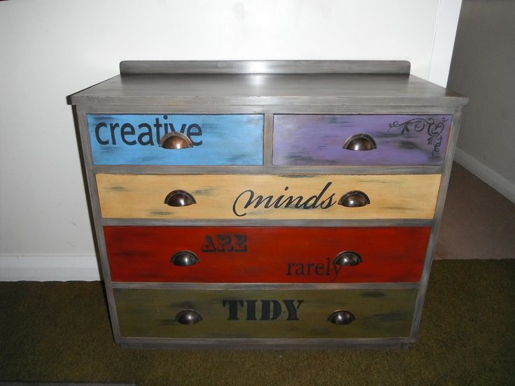 Upcycled drawers using Annie Sloan paints