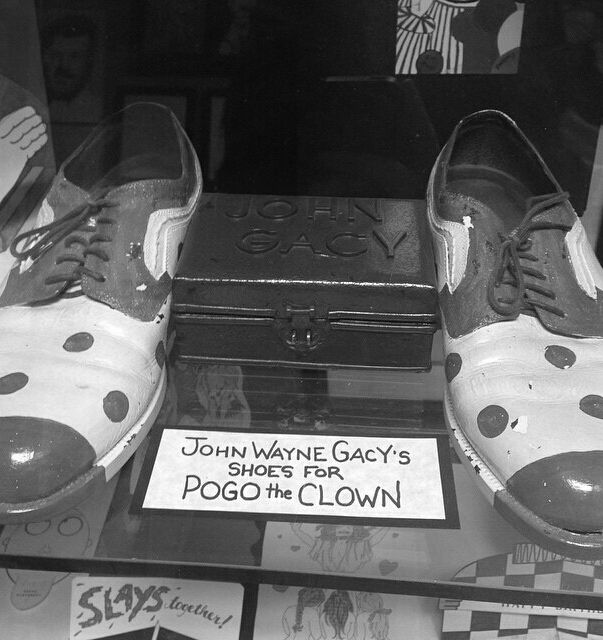 "John Wayne Gacy Crime Memorabilia, Gacy's ""Pogo The Clown"" Shoes"