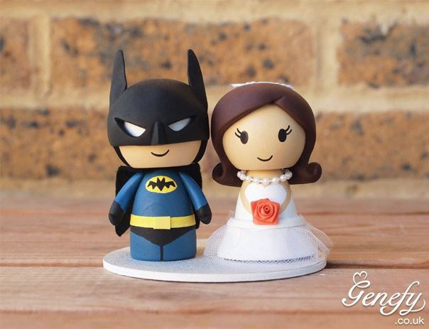Gorgeous Geeky Wedding Cake Topper - Batman Wedding Cake Topper - Genefy Playground
