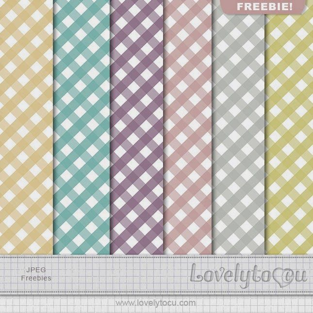 Lovelytocu - the Blog: Paper set Freebie #33 - free digital papers in muted ginghams